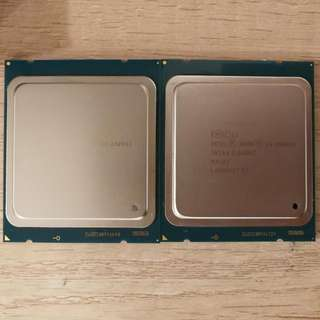 Matched Pair Intel Xeon E5-2609 V2 Processors, Retail Chips, 8 Cores 8 Threads Total, 2.5GHz