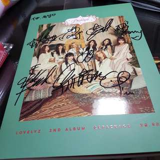 Lovelyz - 2nd Album Repackage Now We 簽名專輯