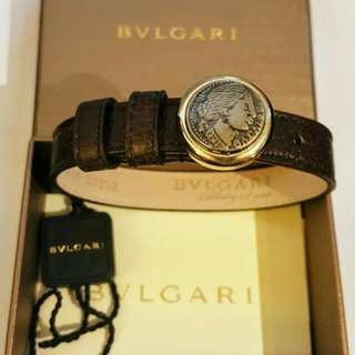 BVLGARI Coin Leather Bracelet