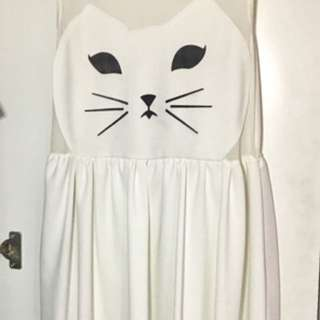Cat White Dress