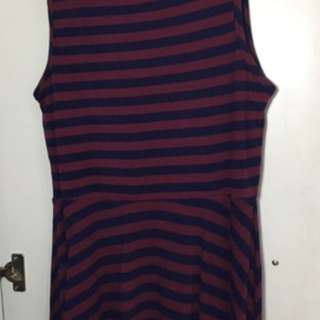 Forever 21 Maroon Stripes Dress