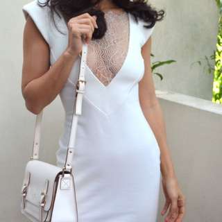 Nicholas The Label Mini White Dress Size 6 $420 Retail