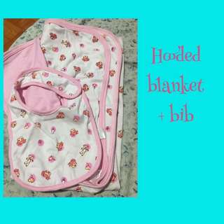 Hooded Blanket & Bib