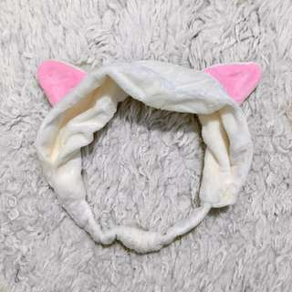 Kawaii White Cat Ear Headband