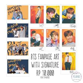 BTS POLAROID FANART AND SIGNATURE