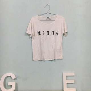 """H&M """"meoow"""" tshirt"""