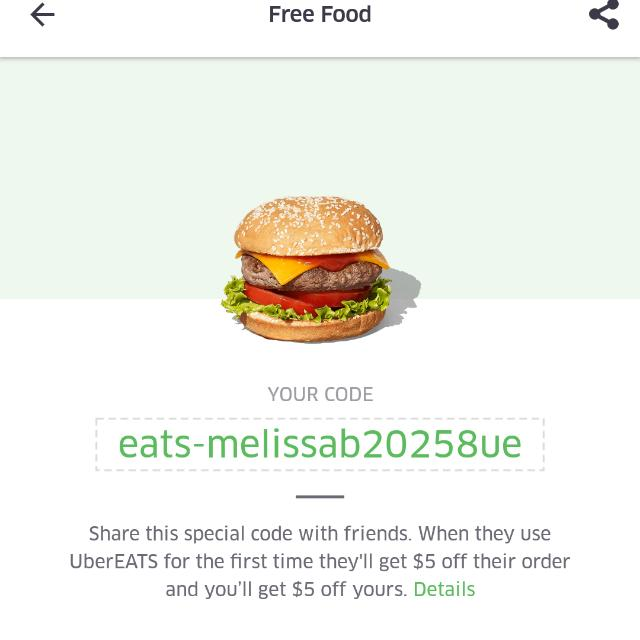 $5 OFF UBEREATS REFERRAL CODE
