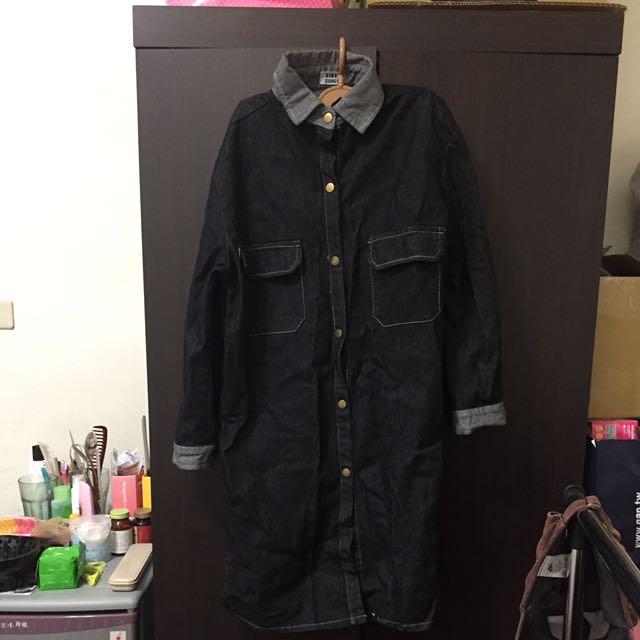🐼牛仔大衣、長版