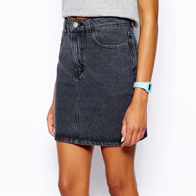 AMERICAN APPAREL GREY DENIM SKIRT