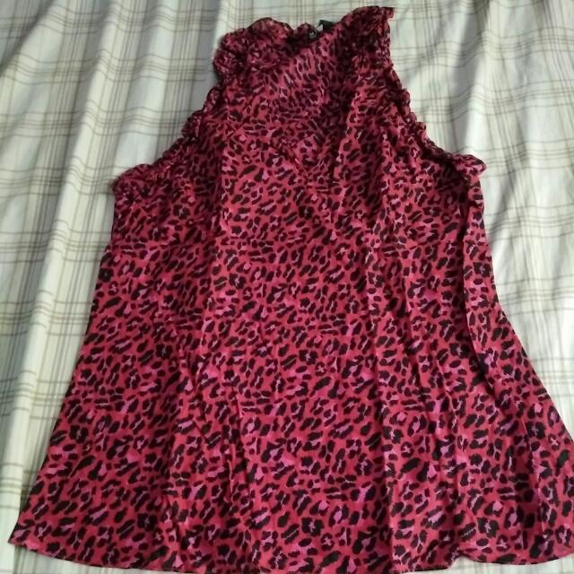 Animal print top size XS