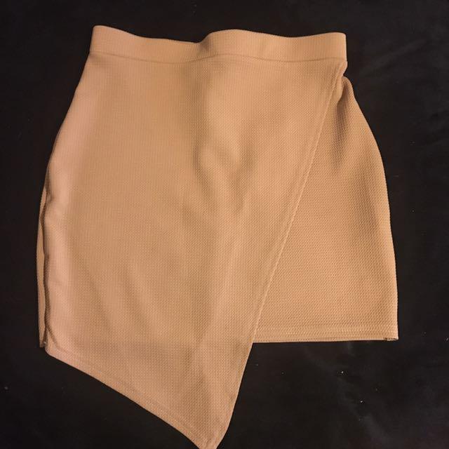 Assymetric Camel Skirt 12