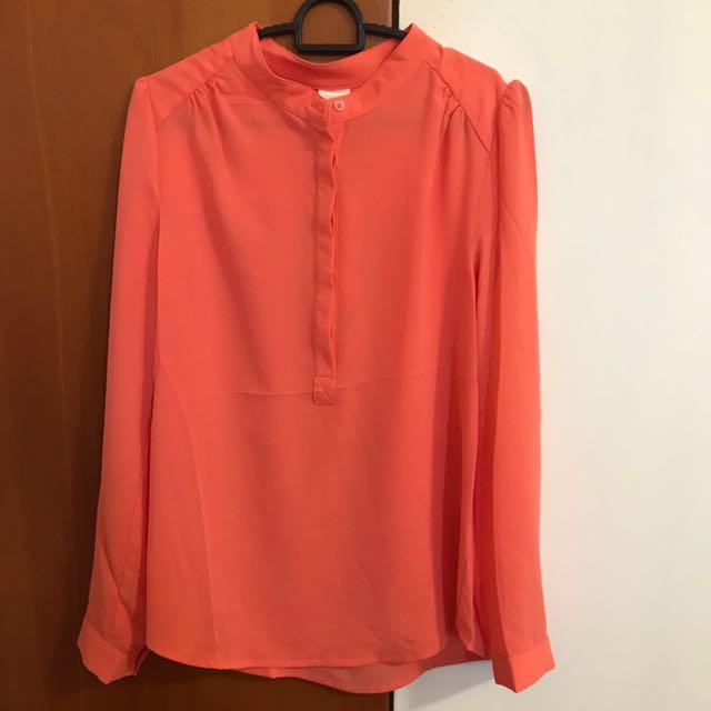 Bega Orange Sleeved top