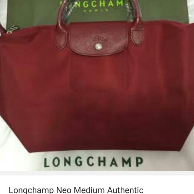 BIG SALE ONLY UNTIL TOMORROW AUGUST 2, 2017 Authentic longchamp NEO MAROON WITH CARE CARD AND PAPER BAG 4500 ONLY