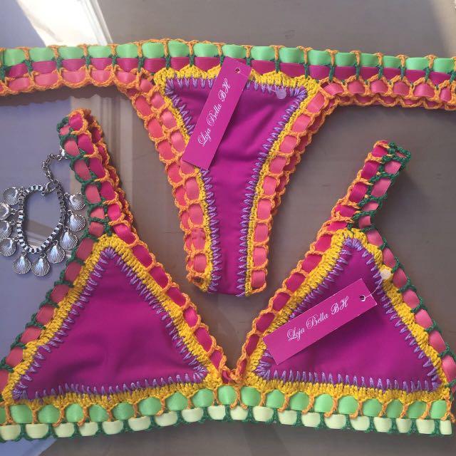 Bikini Kiini Inspired (Double Side Purple/white)