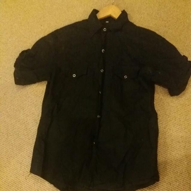 Black Button Up Shirt