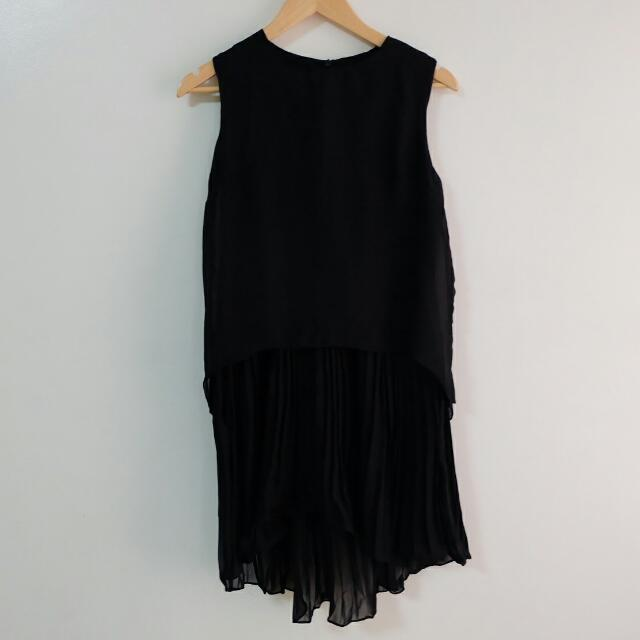 Pleated Black Dress | S.Z.E by Korea
