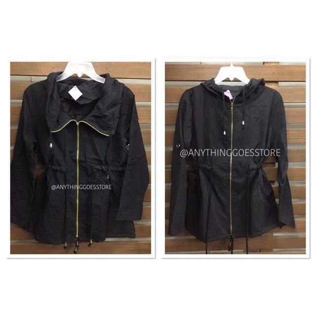 Black Lightweight Jacket (with hood/no hood)