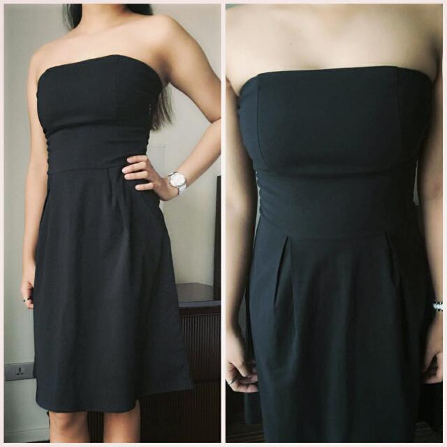 Black Vintage Tube Dress