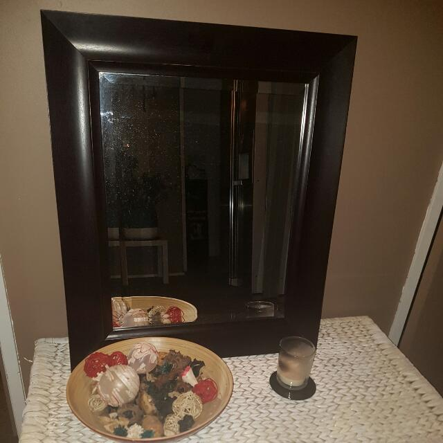 Brown Middle Sized Mirror