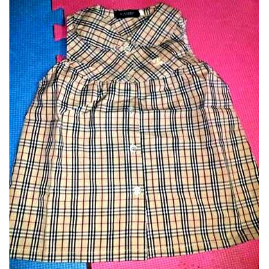 Burberry Inspired Baby Dress Babies Kids Girl S Apparel On Carousell