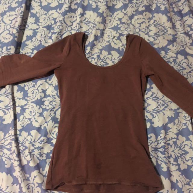 Burgundy Long Sleeve Shirt From Garage