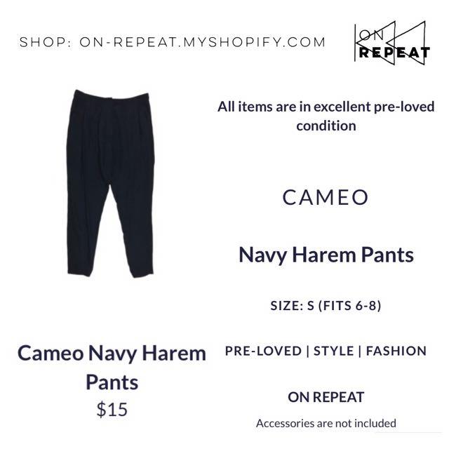 Cameo Navy Harem Pants
