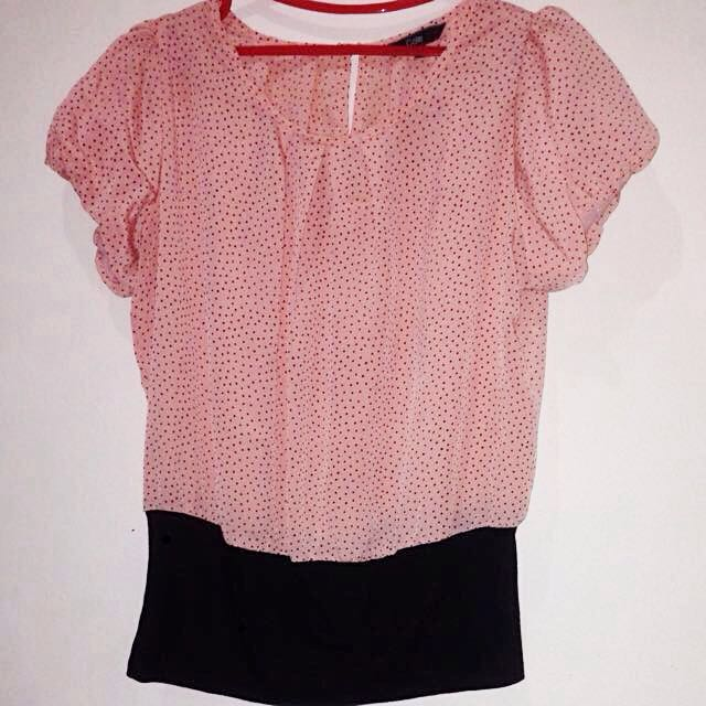 Cole Soft Peach-Pink Blouse
