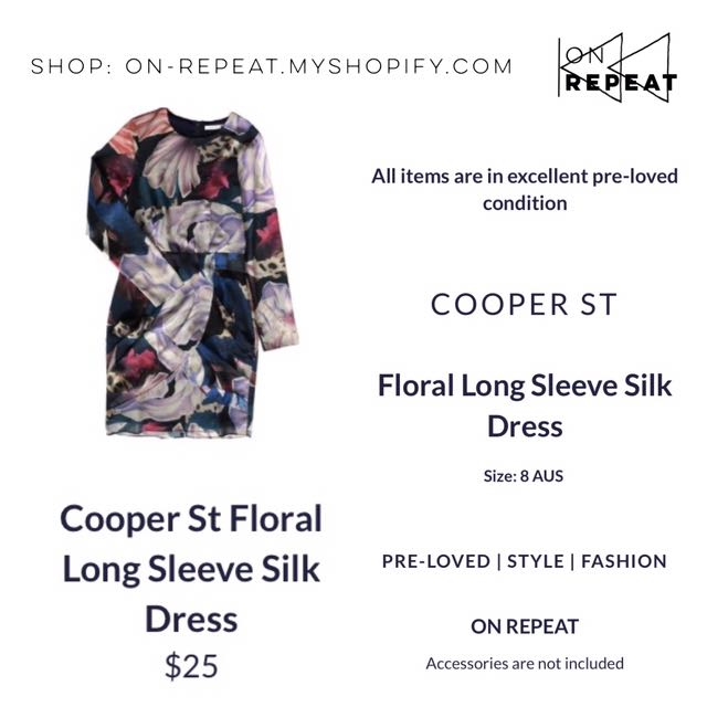 Cooper St Floral Silky Long Sleeve Dresd