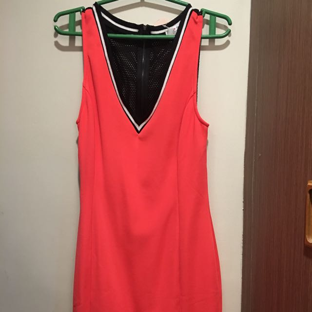 Coral Jersey Dress HIP CULTURE