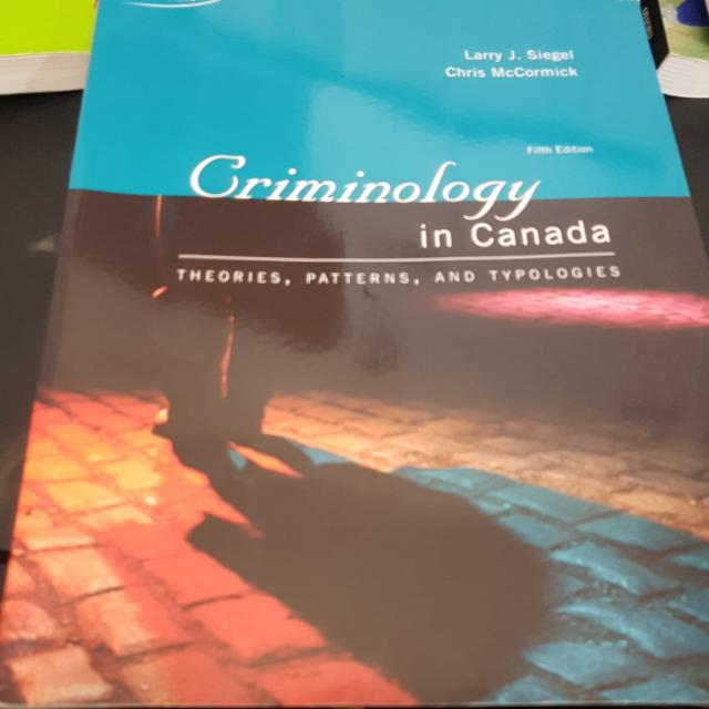 Criminology In Canada