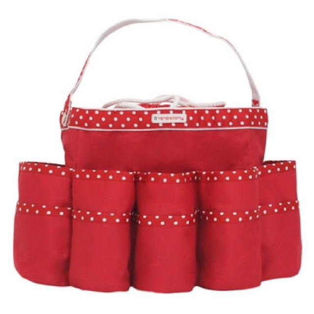 D'renbellony Diaper Caddy Organizer - Merah
