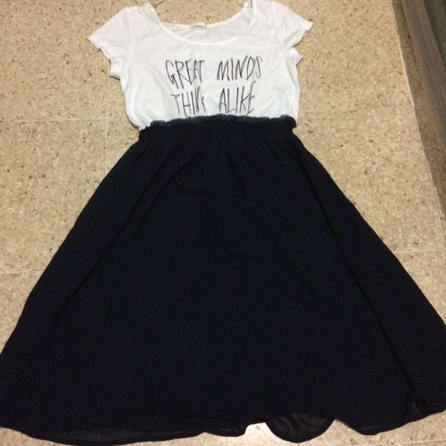 Dress Navy Uniqlo