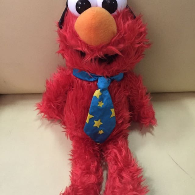 Elmo Stuff Toy Blue Tie With Shades