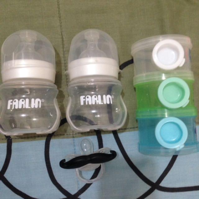 Feeding Bottle, Pacifier & Dispenser