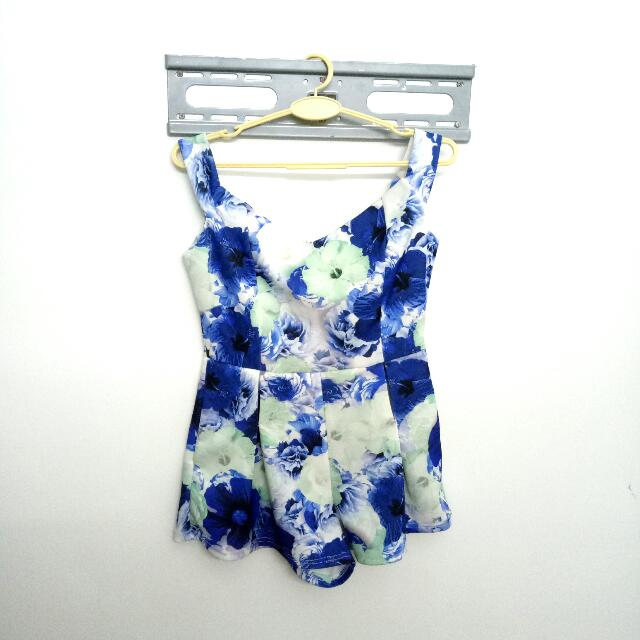 Floral Romper (off shoulder)