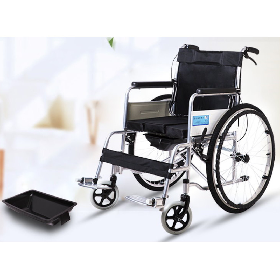 Image of: Cartoon Folded Portable Wheelchair For Disabled And Elderly People Wheelchair With Drawer Type Toilet New Everything Else On Carousell Chinasmack Folded Portable Wheelchair For Disabled And Elderly People