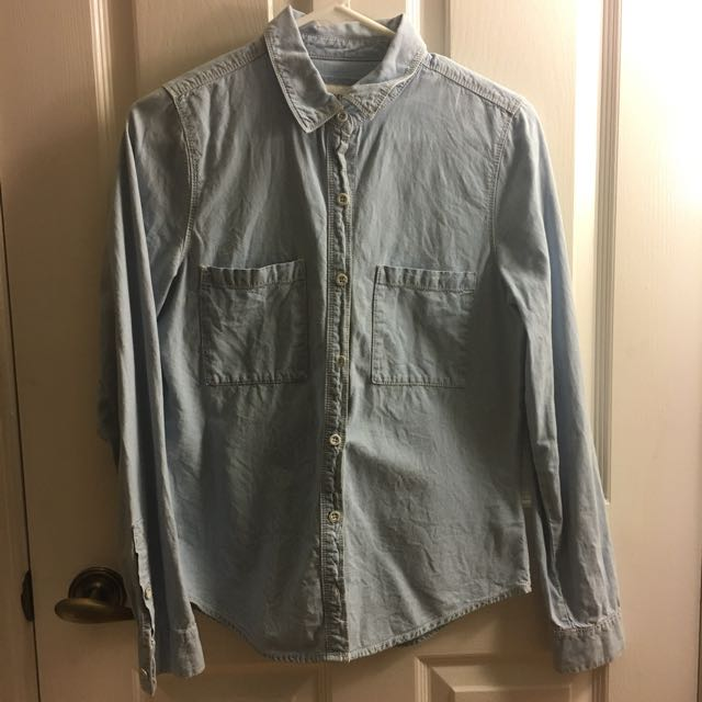 Forever 21 Denim Button-Up