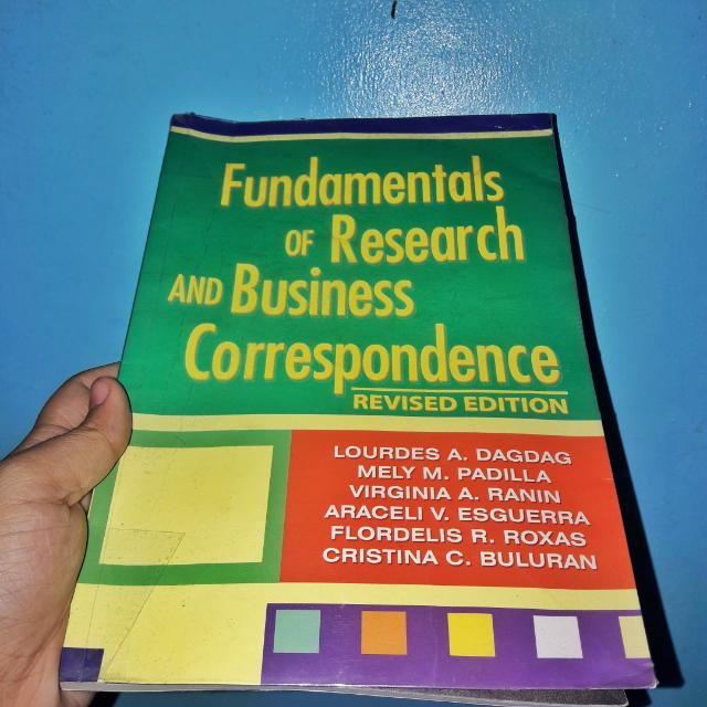 Fundamentals Of Research And Business Correspondence