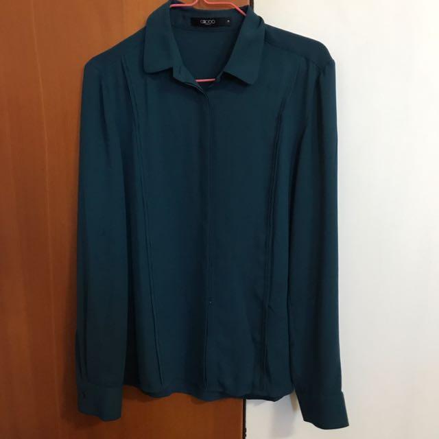 G2000 Dark green Sleeved top