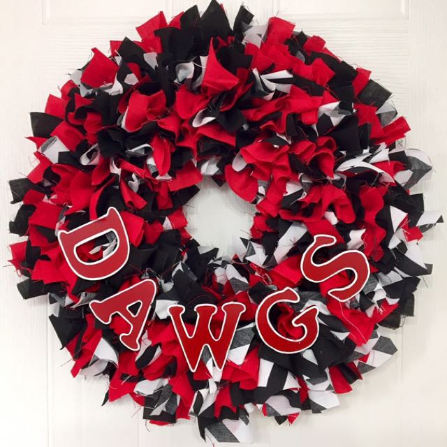 """Georgia Bulldogs"" Handmade Wreath"