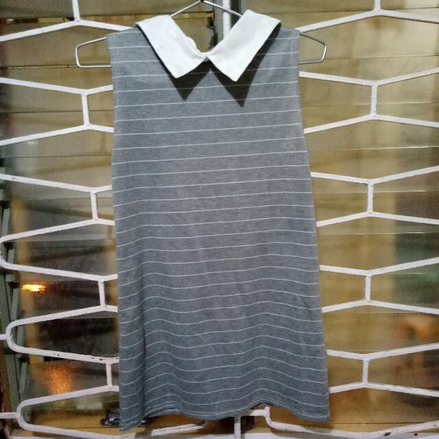 Gray Collar Dress