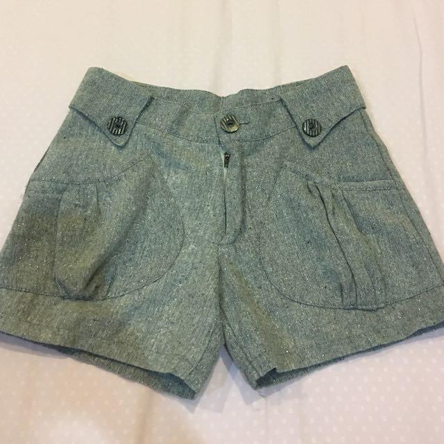 Grey Mini Pants