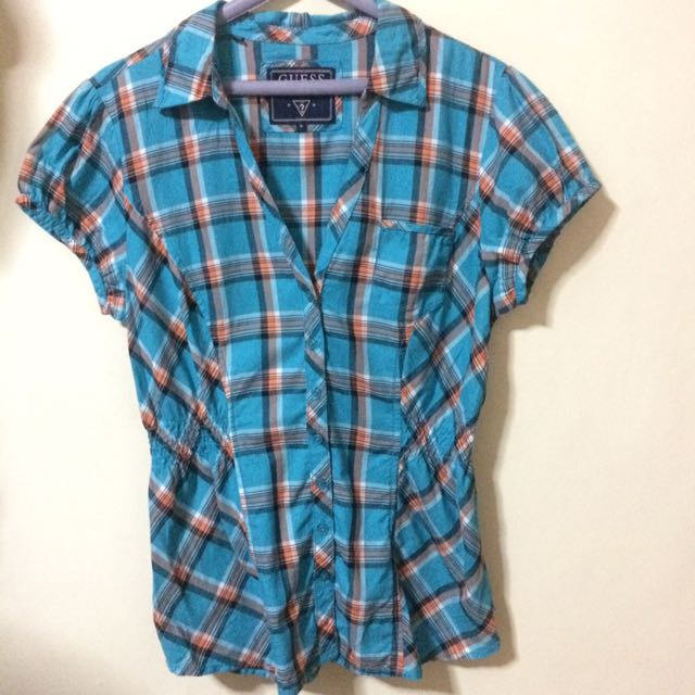 Original Guess Checkered Polo