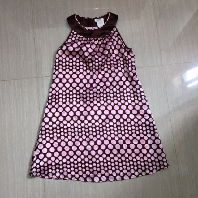 Halter Dress Pink Polka Dots