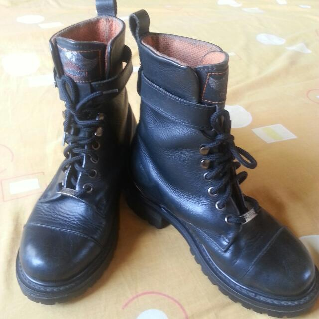 Harley Davidson Pure Leather Ladies Boots