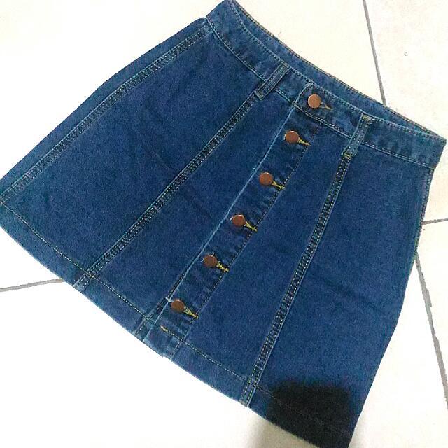 REPRICED!!!! Highwaist Denim Skirt