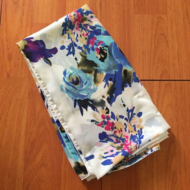 Hijab Flower Blue