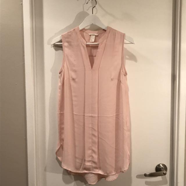 H&M Pink Sleeveless Blouse