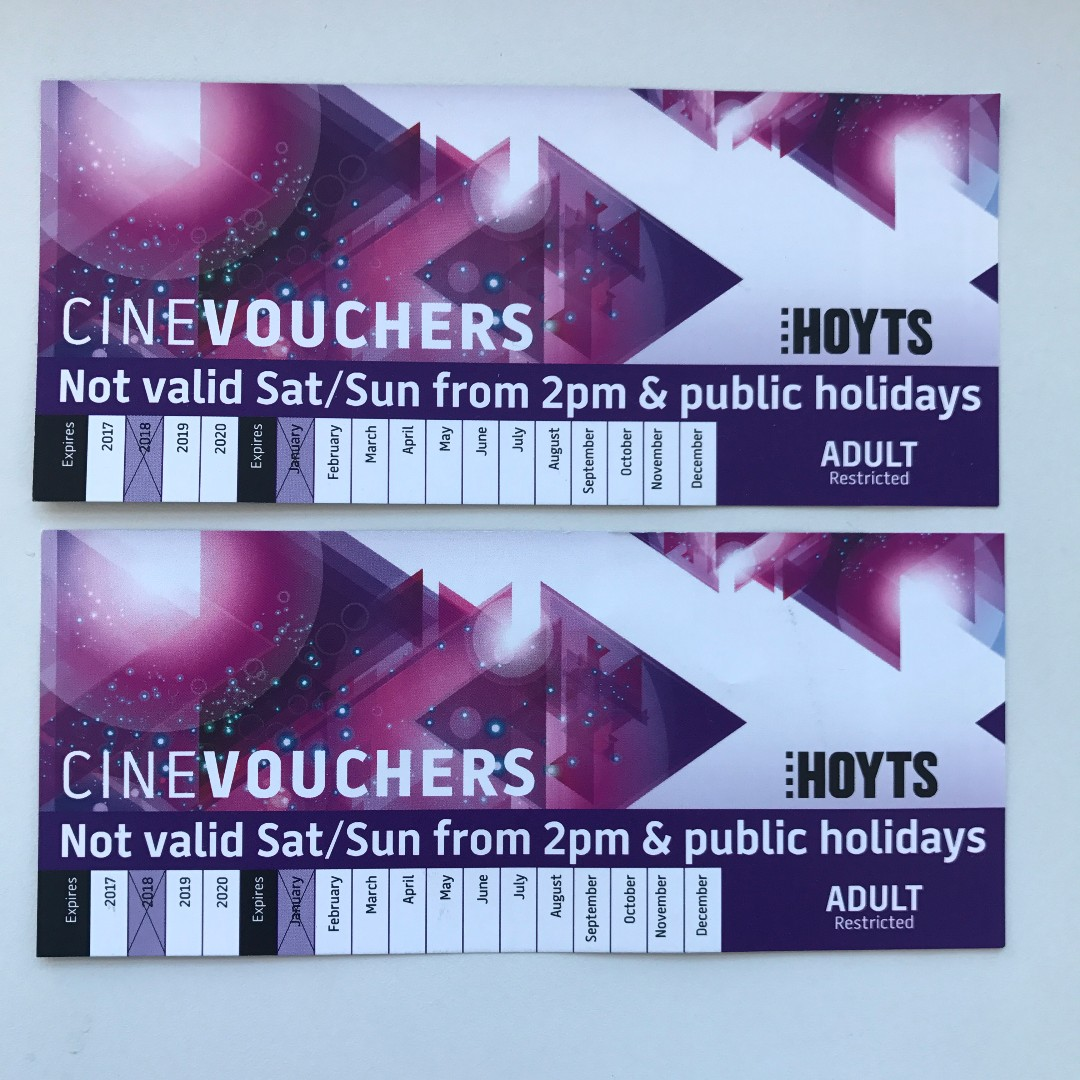 Hoyts Movie Vouchers LFET 1 ONLY