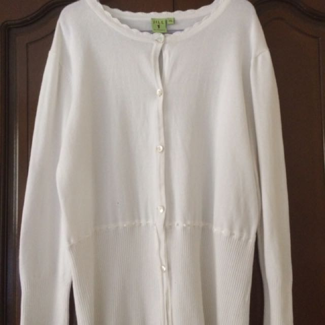 Jill by Rustan's white cardigan